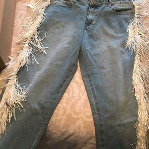 Denim - Fringe Boyfriend Jeans from PLT